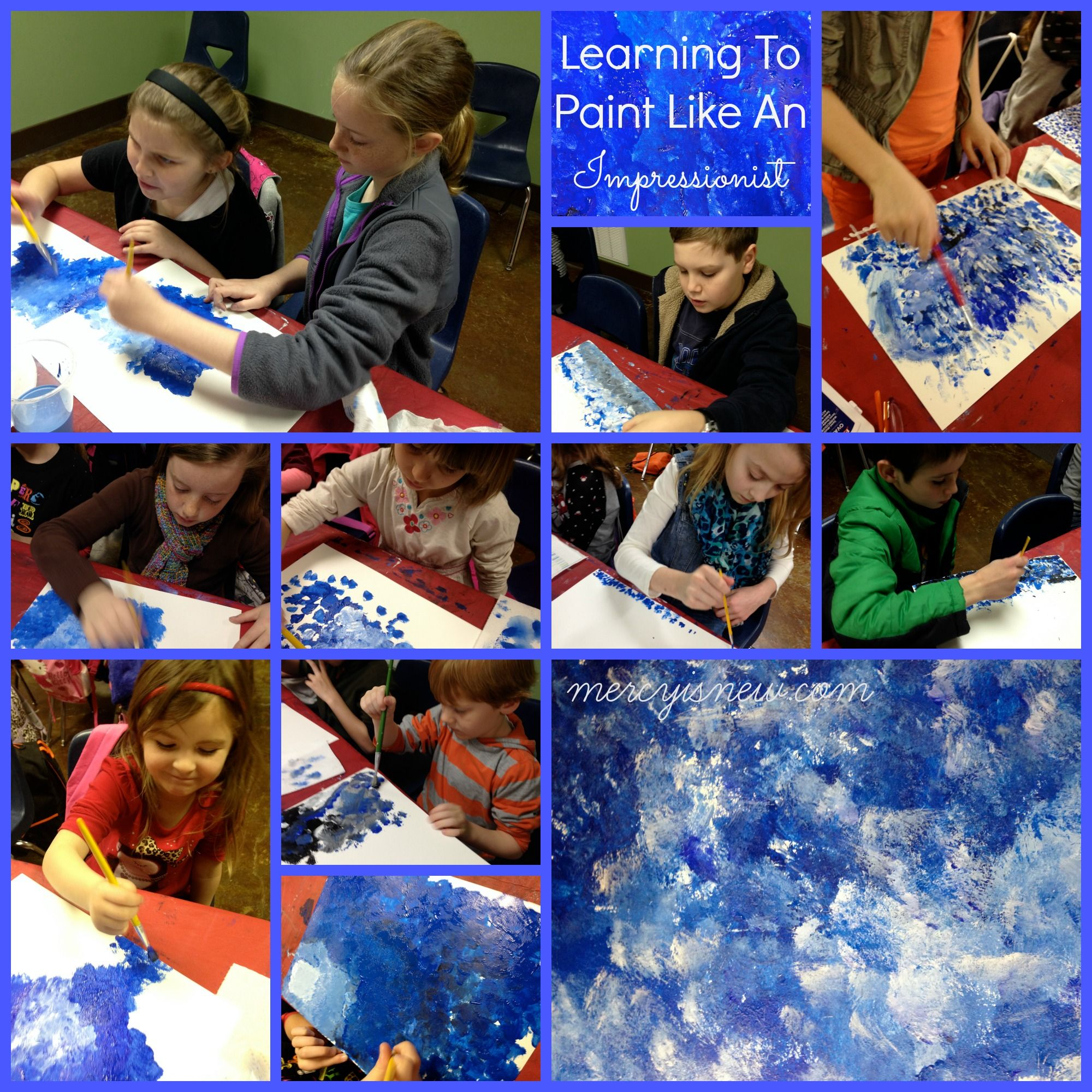Teaching Kids To Paint Like An Impressionist