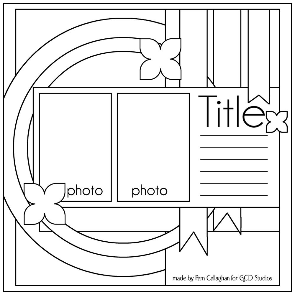 ideas for scrapbookers  two sketches and a template  nice