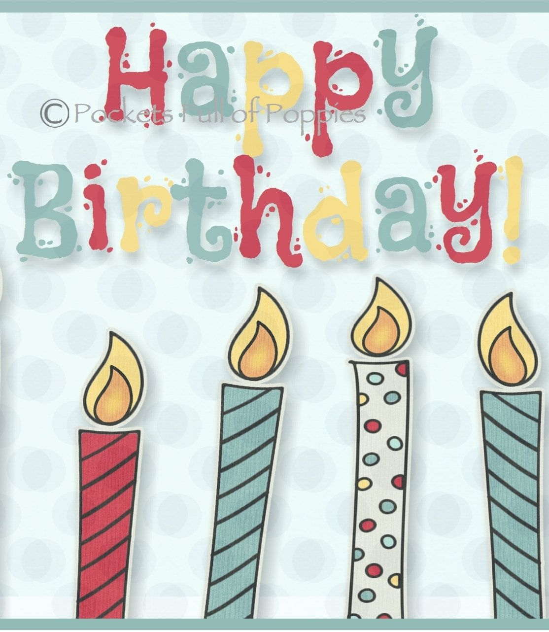 Printable Gift Card Holder; Birthday Candles Bright And