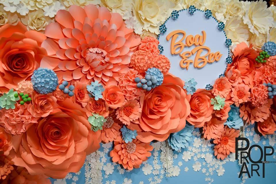 Wedding paper flowers wall pinterest flowers wedding and wedding paper flowers wall mightylinksfo