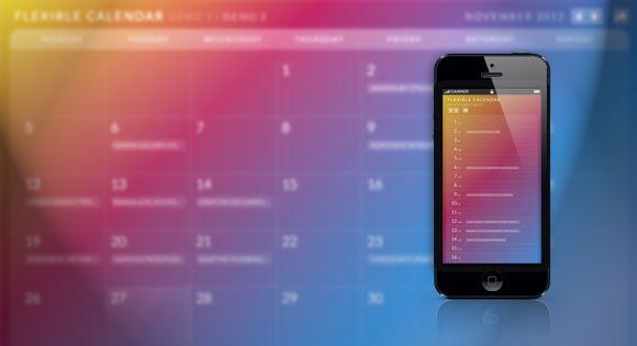 Html Calendario.Calendario A Flexible Calendar Plugin Coding Web Ui