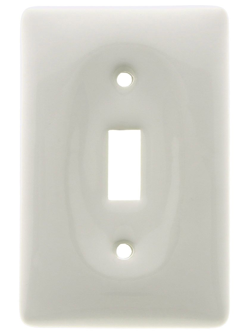 Antique Hardware White Porcelain Single Toggle Switch Plate 6 49 Each Switch Plates Light Switch Covers Antique Hardware
