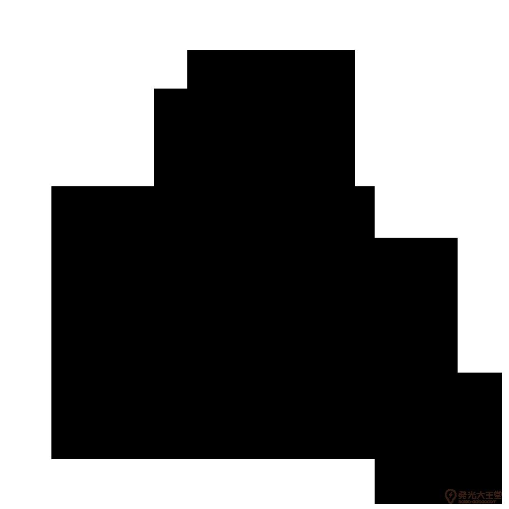 亀甲紋の一種 家紋 三つ盛り亀甲花菱のepsフリー素材 戦国武将