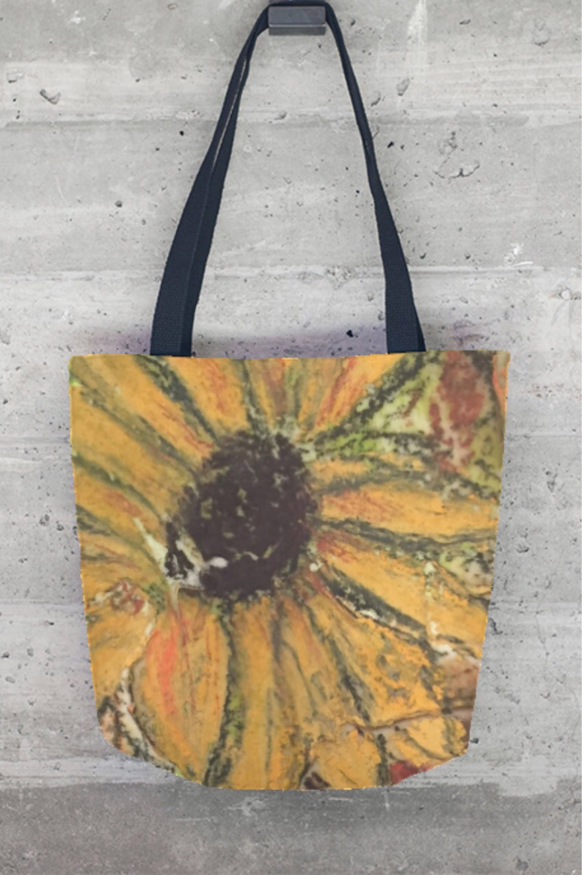 Tote Bag - Sunflower Tote Bag by VIDA VIDA