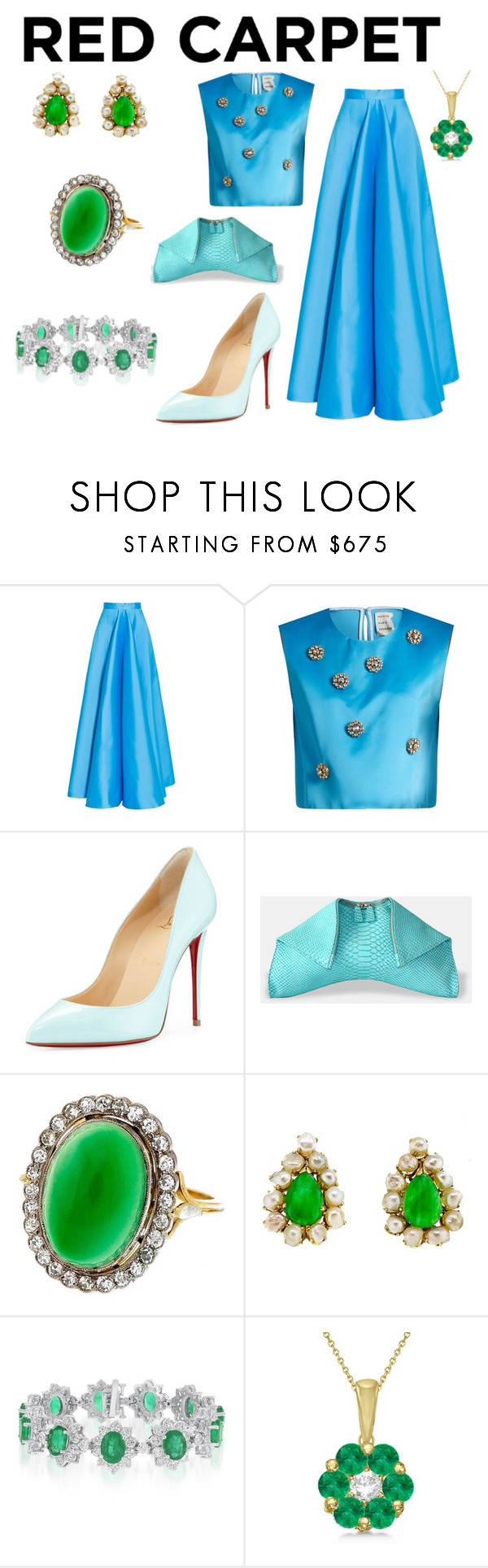 """Untitled #971"" by moestesoh ❤ liked on Polyvore featuring Maison Rabih Kayrouz, Christian Louboutin and Allurez"