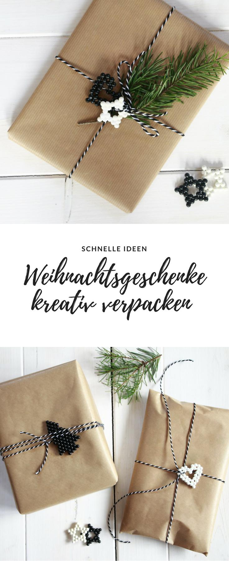 Weihnachtsgeschenke verpacken: Ideen mit Aquabeads | DIY Ideen und ...