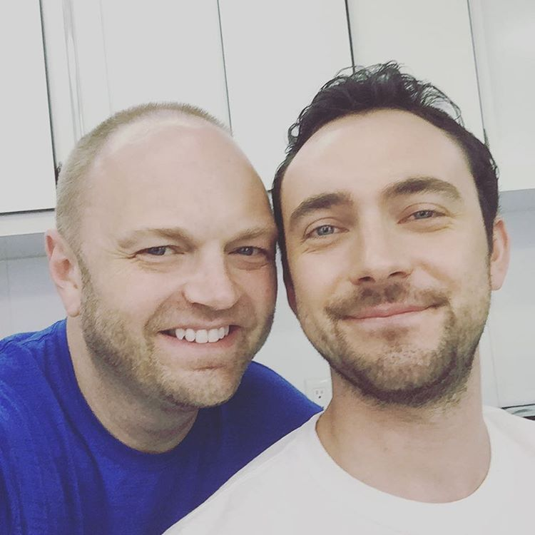 #TBT My #BritBestie @gblagden and I on set of @nopostagefilm #CareyOn 🇬🇧🇺🇸