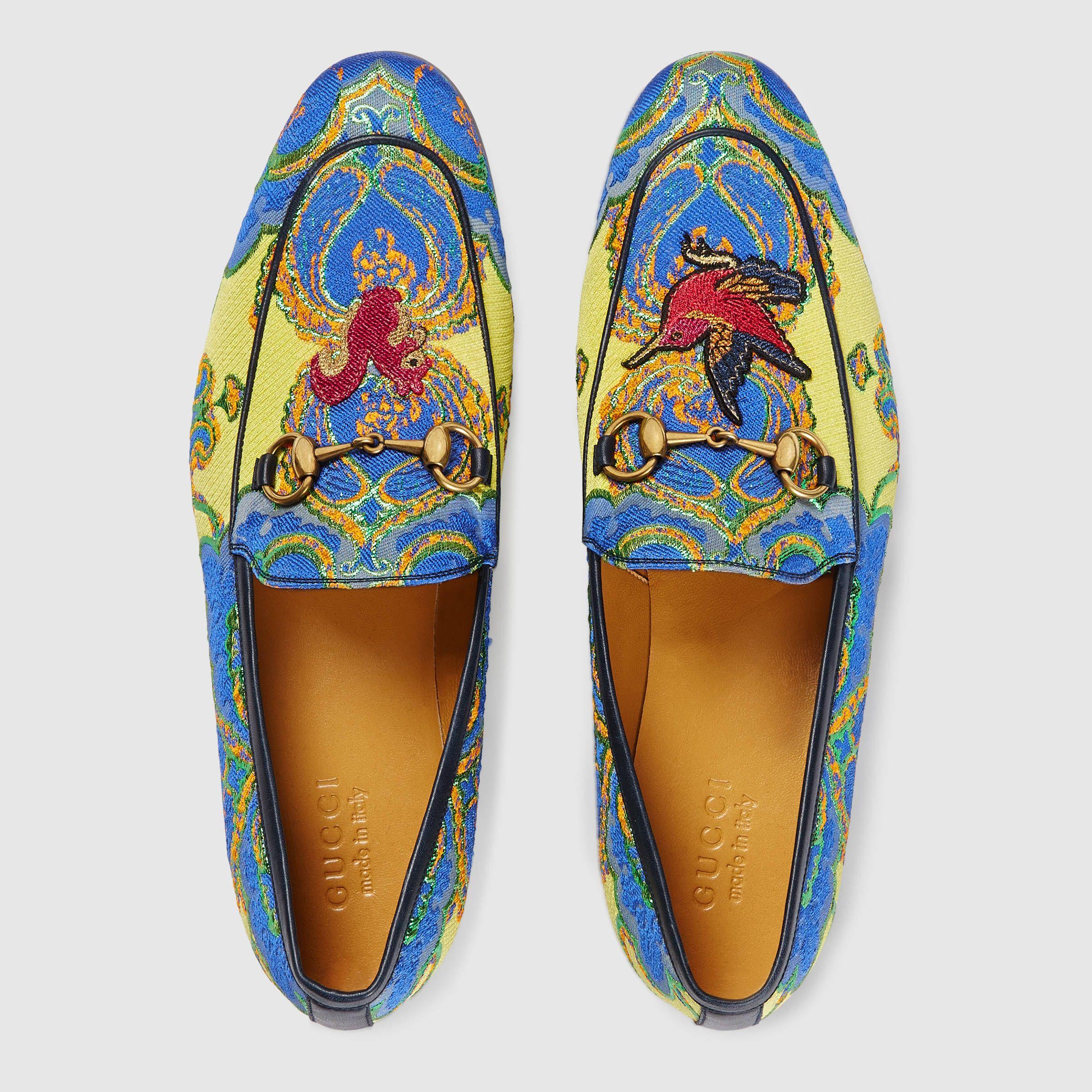 7a4af3c004c Gucci Men - Gucci Jordaan floral jacquard loafer - 431332KZ5707264 ...