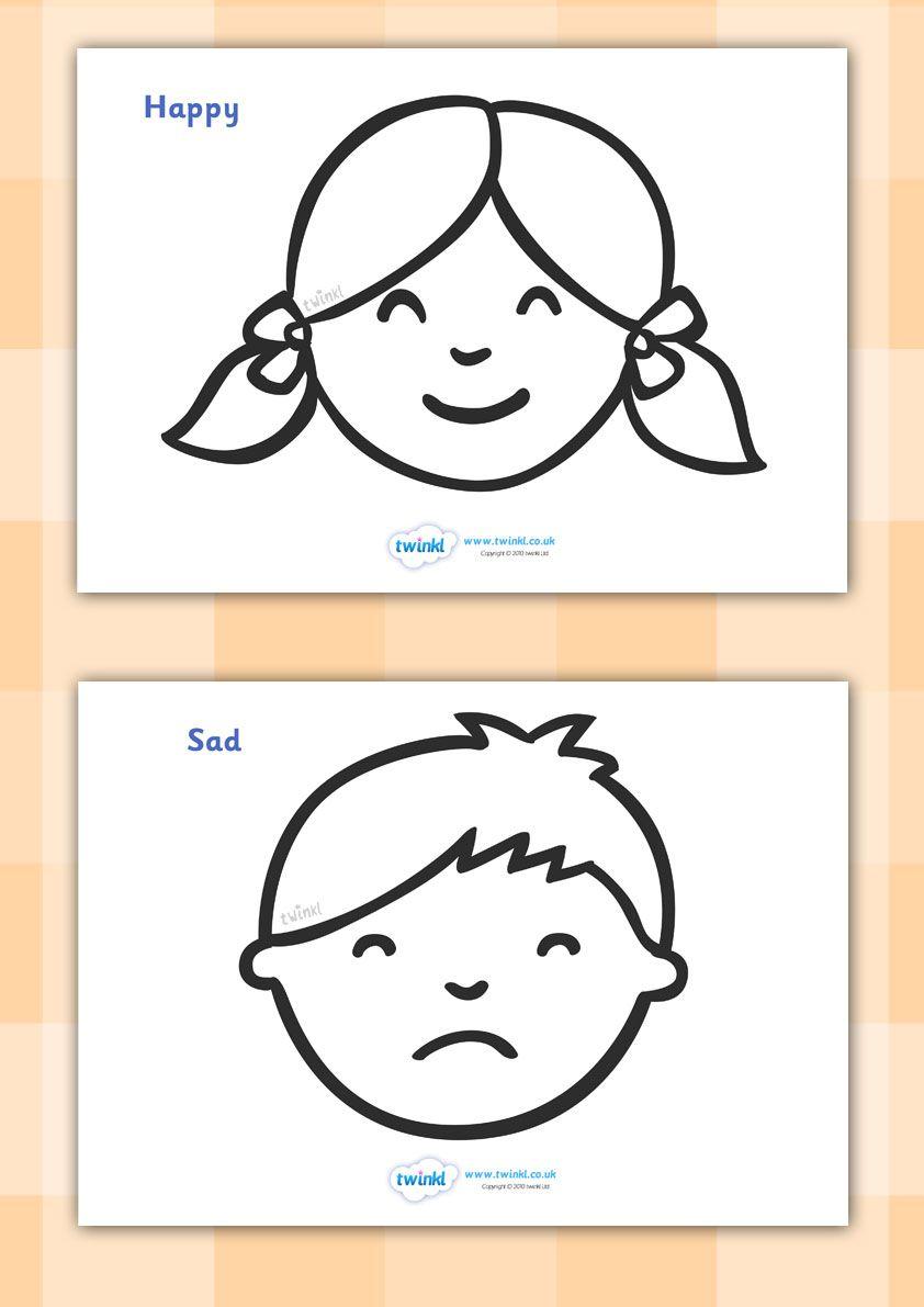 Coloriages | Activités: Émotions | Pinterest | Gefühle