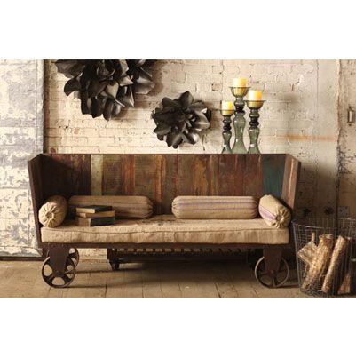 Gershwin U0026 Gertie Recycled Teak Sofa On Casters   How Fun Is That?