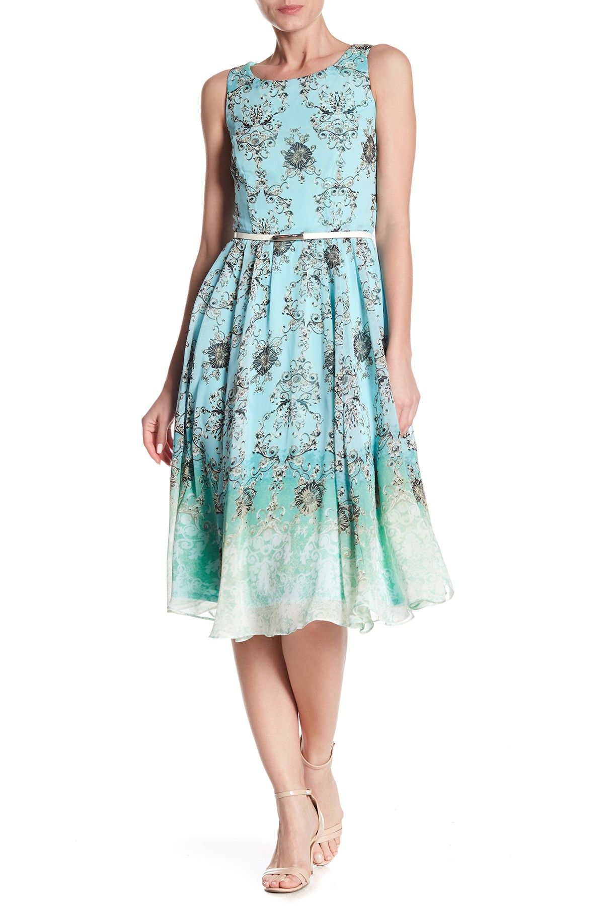 92d93e3cd3a Gabby Skye - Waist Belt Floral Print Dress is now 59% off. Free Shipping on  orders over  100.