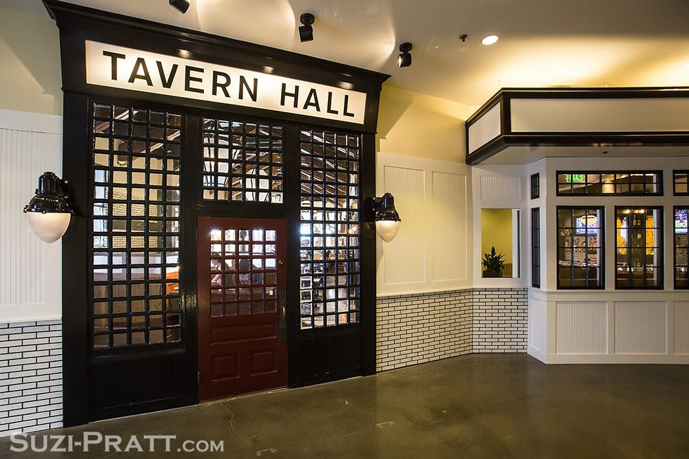 White Glazed Slimbrick From Mutual Materials Frame Entry Wall Of Tavern Hall In Bellevue Washington