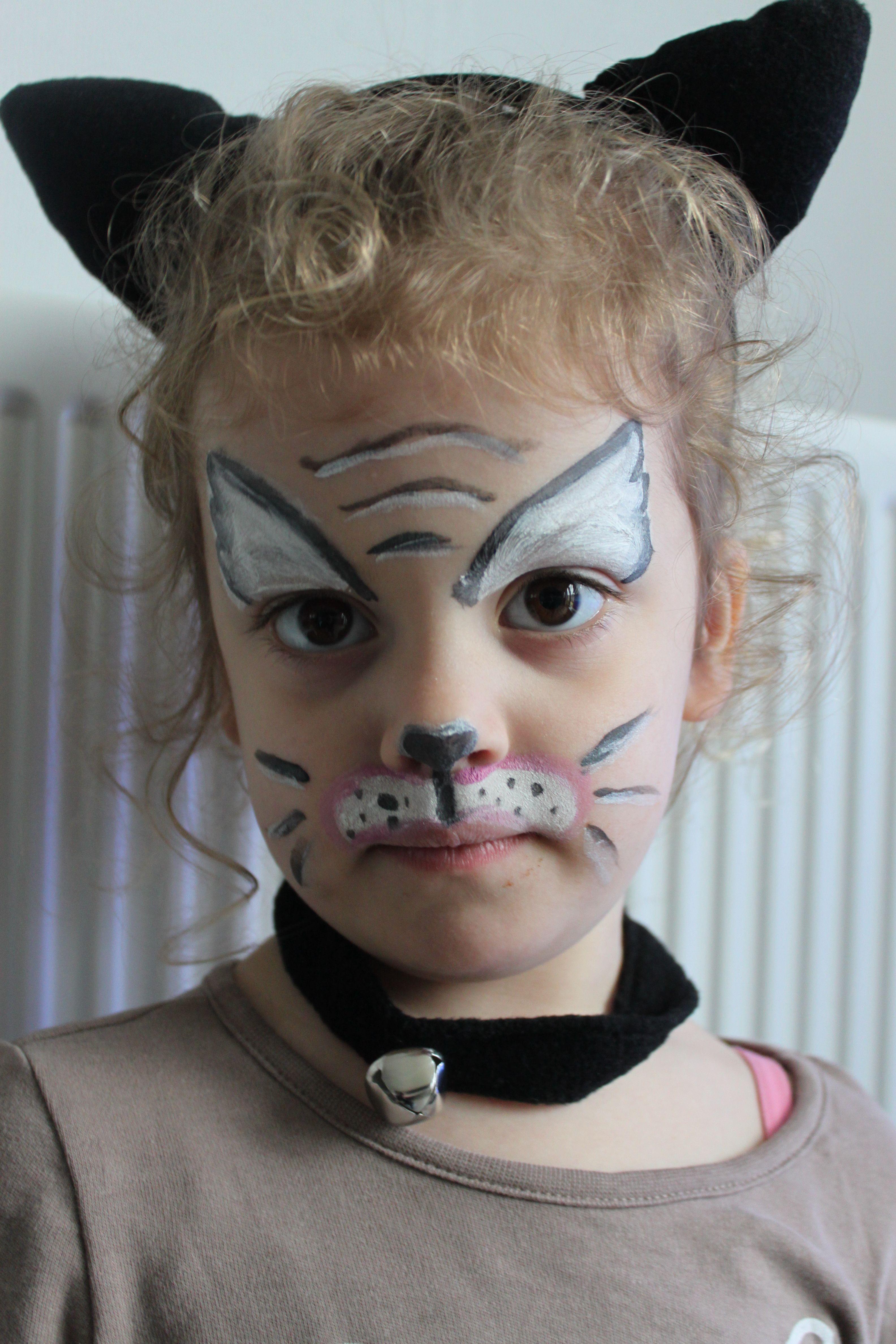 schmink poes | schminkvoorbeelden | halloween face makeup, face