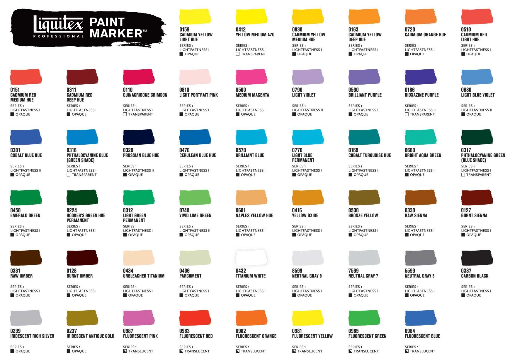 Liquitex paint marker color chart google search art pinterest liquitex paint marker color chart google search geenschuldenfo Images