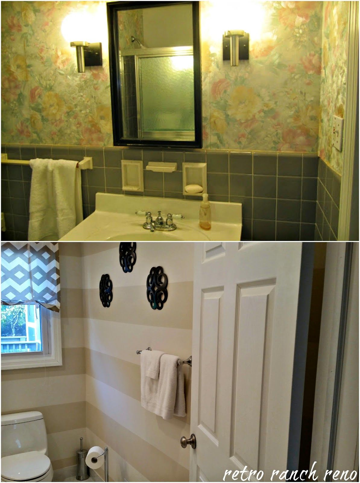 1950s hallway ideas  This before and after is a little tough to illustrate Our former