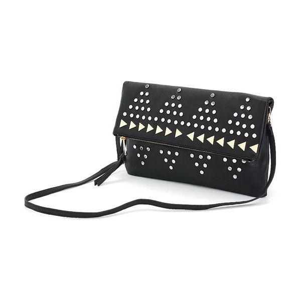 Rivet Shoulder Bag$52 ($52) found on Polyvore