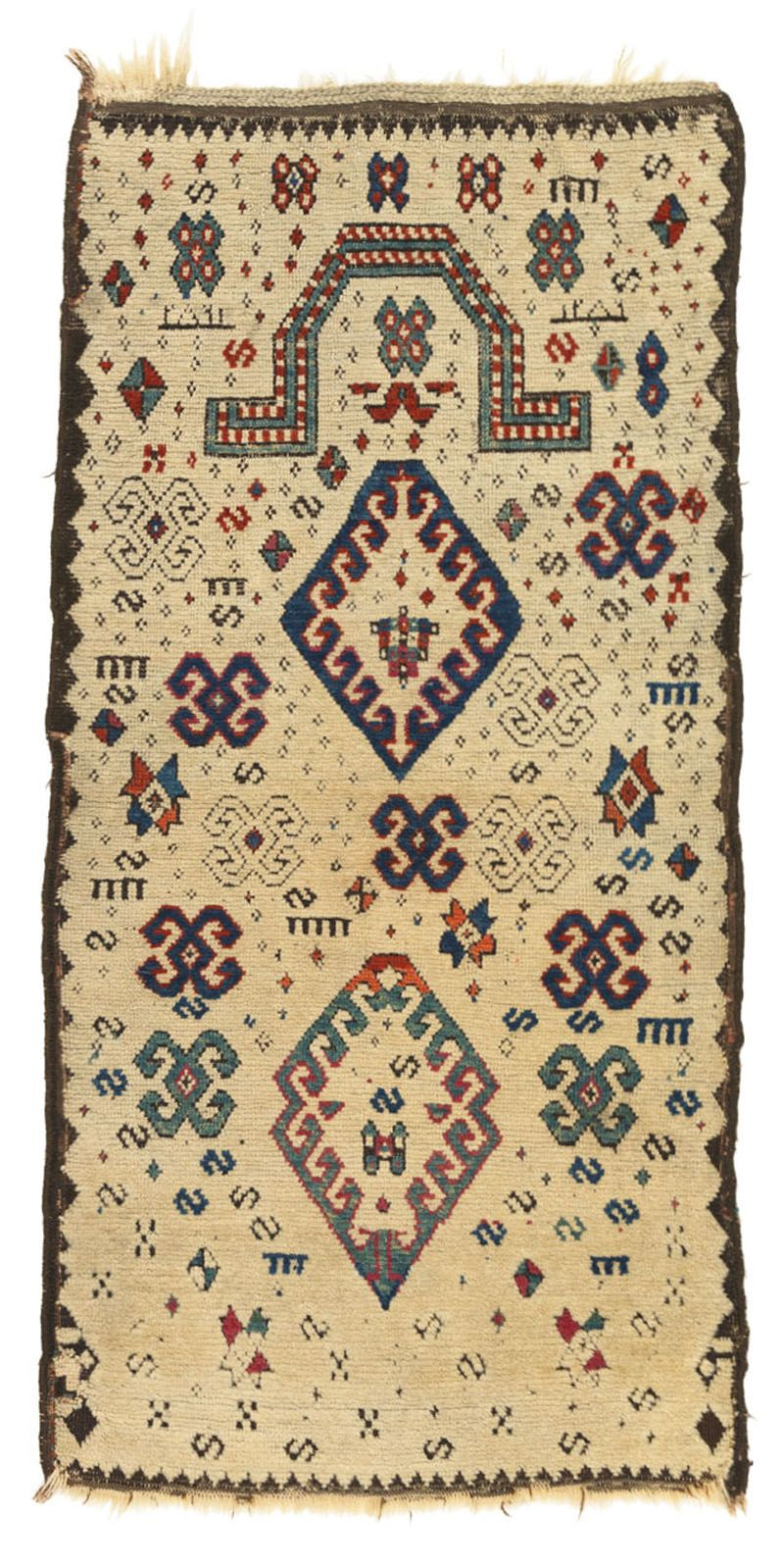Zakatala Prayer Rug Zakatala Prayer Rug 19th C (3rd Q) Caucasus