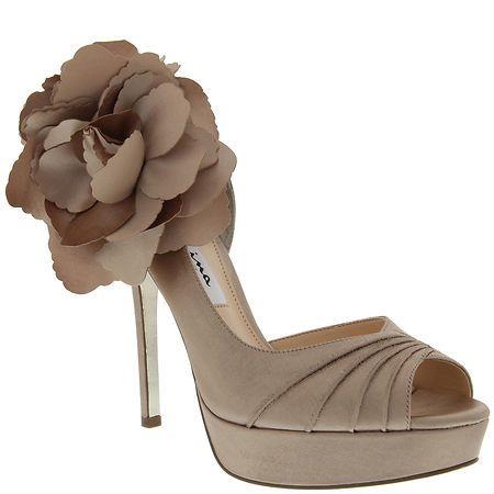 Nina MELINDA CHAMPAGNE CRYSTAL SATIN by Nina Shoes