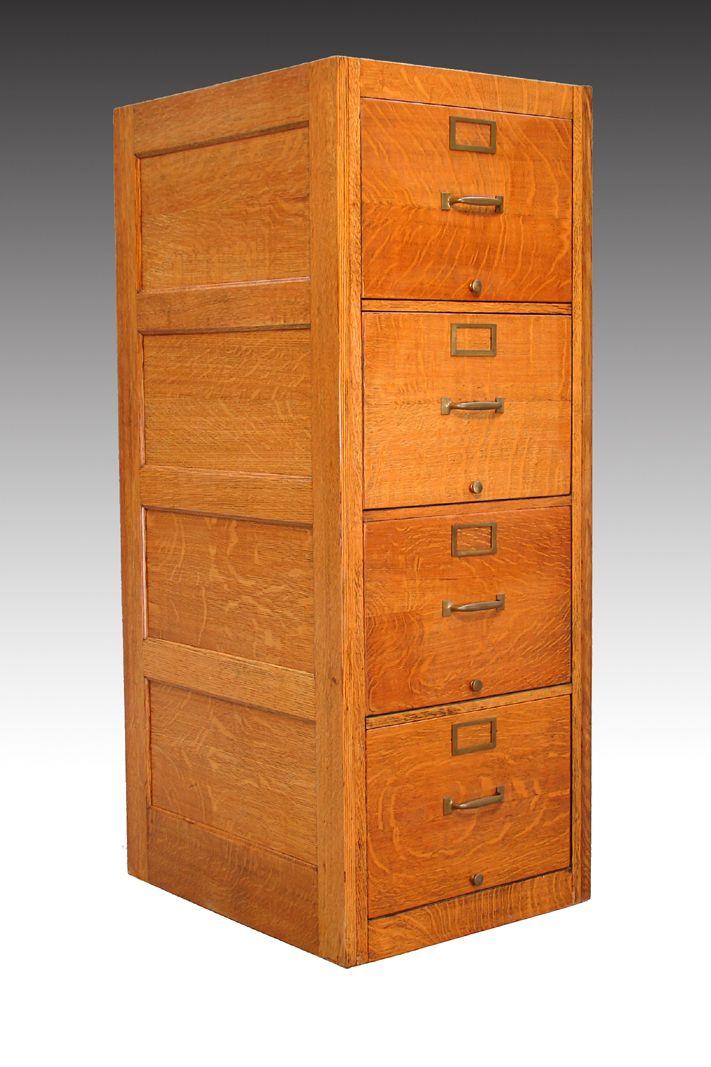 SOLD Oak Legal Size File Cabinet  Antiques  Cabinet