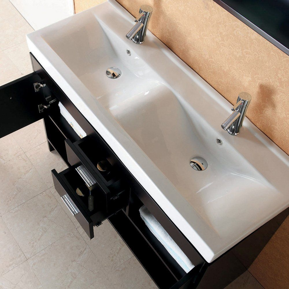Gloria 48 double sink bathroom vanity set master - Bathroom cabinets sinks and vanities ...