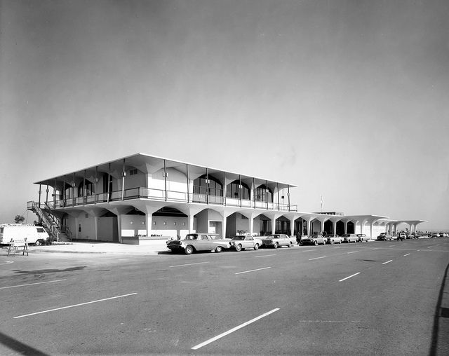 Orange County Airport terminal, circa 1967 by Orange County Archives. My how John Wayne Airport has changed!
