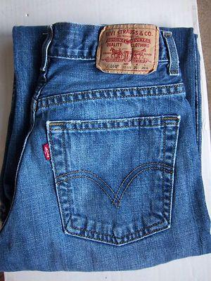 993d6593941 Levi Jeans Blue Red Label Size 12 R Denim 569 Strauss Girls Loose Straight  | eBay