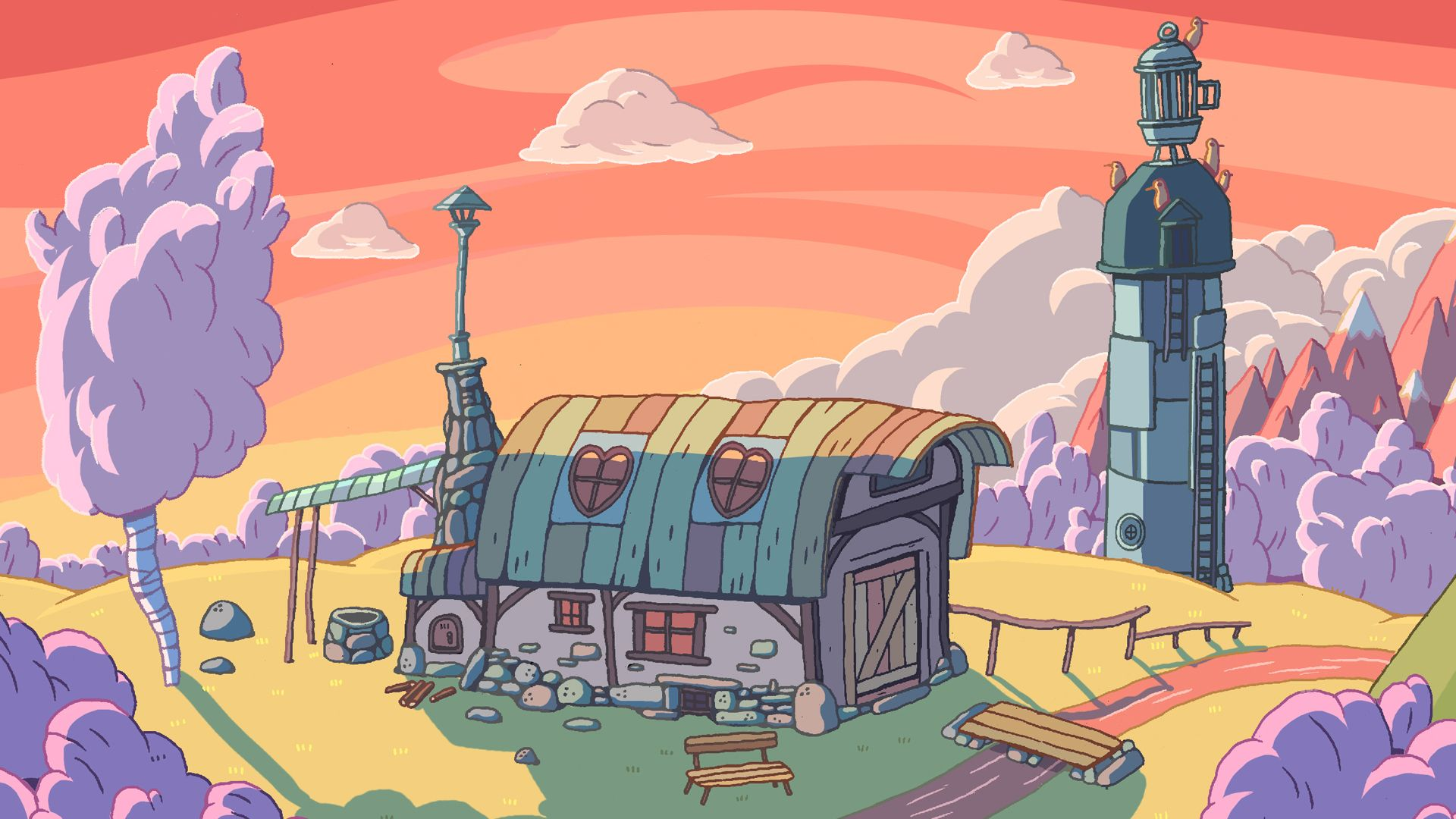 Image result for adventure time background Wallpaper