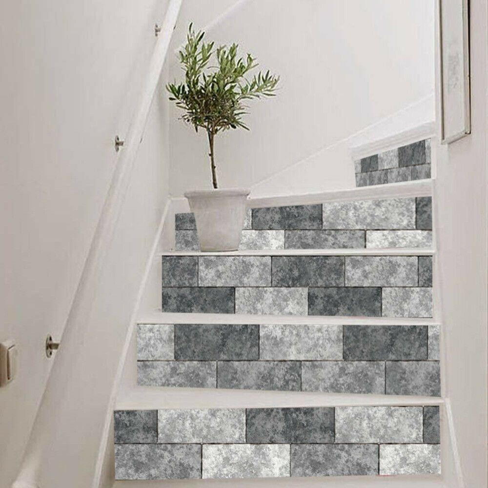 1Pc Waterfall Stair Stickers Art Self Adhesive Creative 3D Mural | Self Stick Stair Treads | Slip Resistant | Modern | Vinyl Covered | Contemporary | Pad