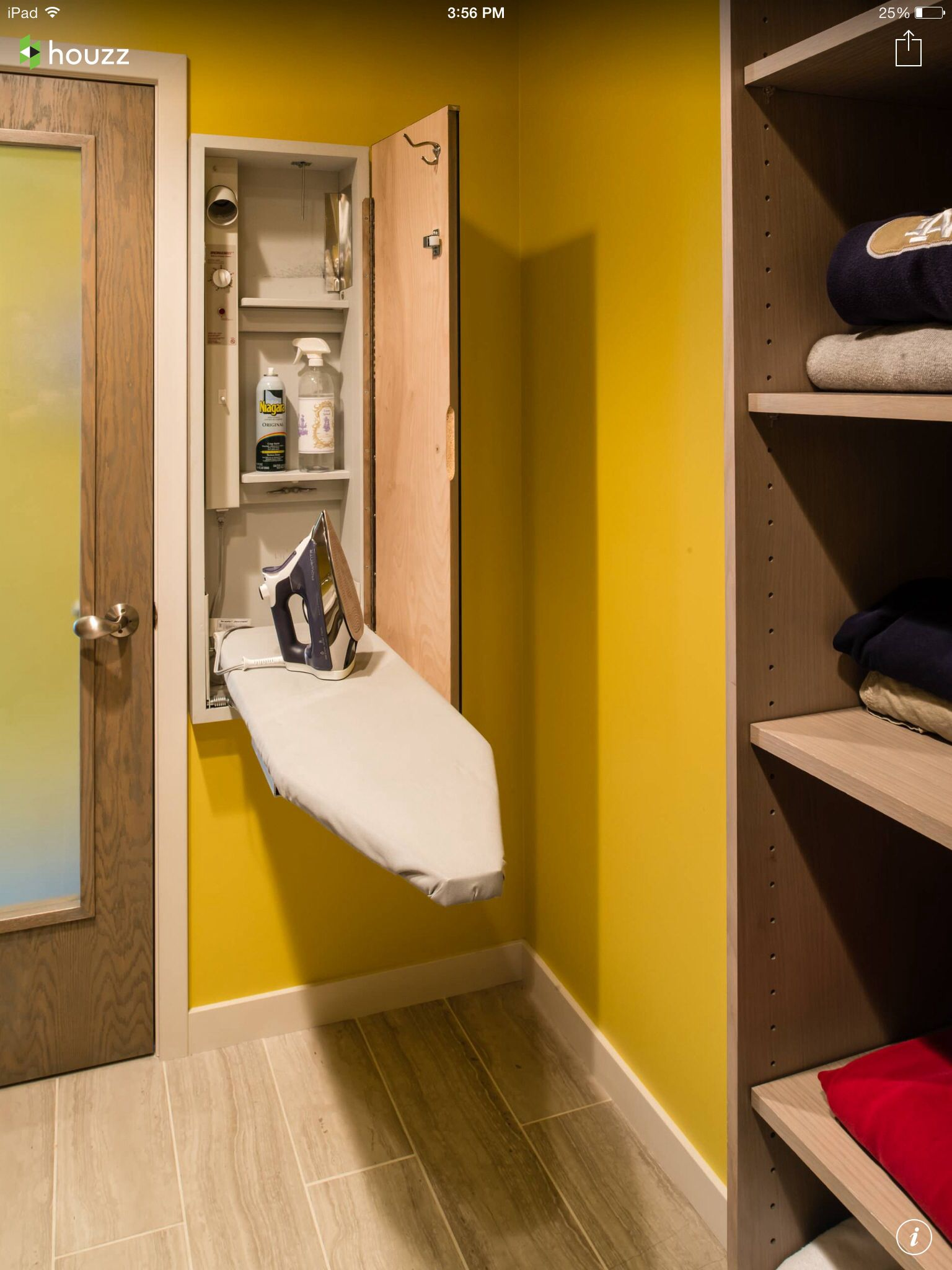 Discreet ironing board  Modern laundry rooms, Laundry room design
