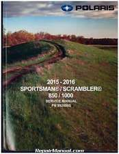 This Is A Digital Download Of The 2016 Polaris Sportsman Scrambler 850 1000 Service Manual In Pdf Format You Will Need Adobe Reader Scrambler Sportsman Manual