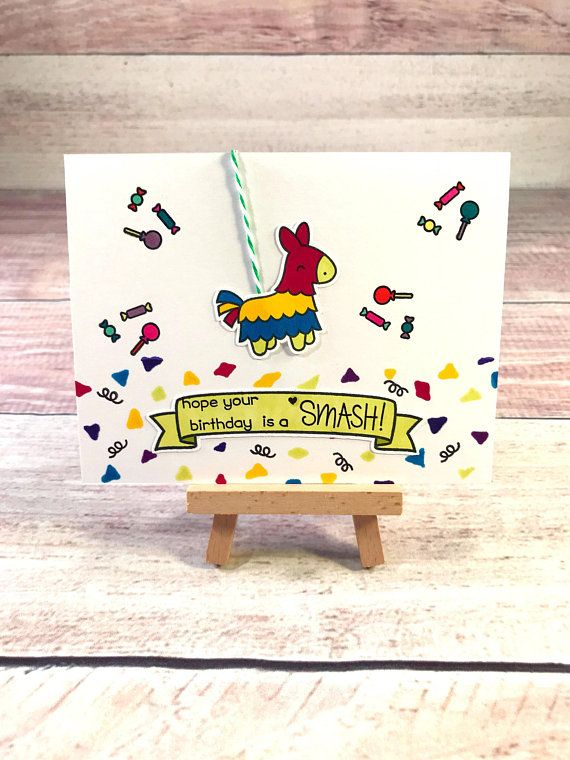 Pinata Birthday Card Spanish Festive Fiesta C