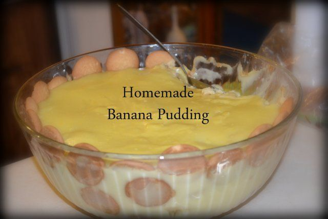 Homemade Banana Pudding - A recipe given to me by my mother in law. It is not hard and the results are AMAZING!!