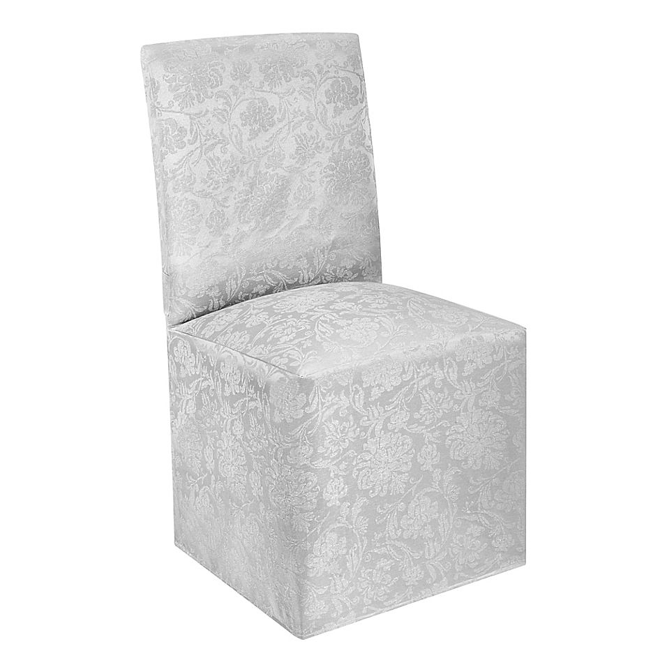 Holiday Medley Christmas Dining Chair Cover Bed Bath Beyond Dining Chair Covers Dining Chairs Chair Cover