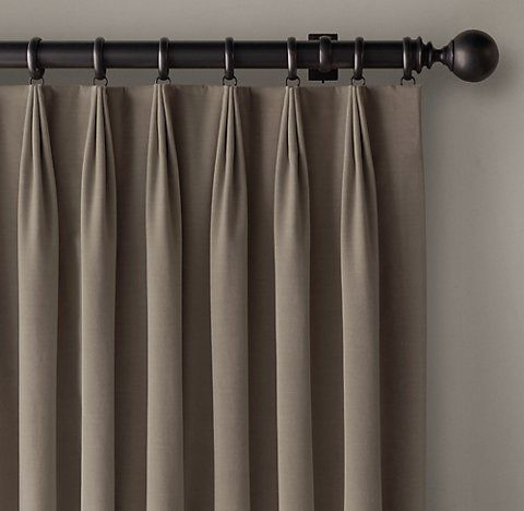 Rh S 3 Fold Tailored Pleat Drapery Fabric Window Treatments Home Curtains Pinch Pleat Curtains