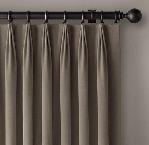 Rh S 3 Fold Tailored Pleat Drapery Fabric Window Treatments Pinch Pleat Curtains Pleated Curtains
