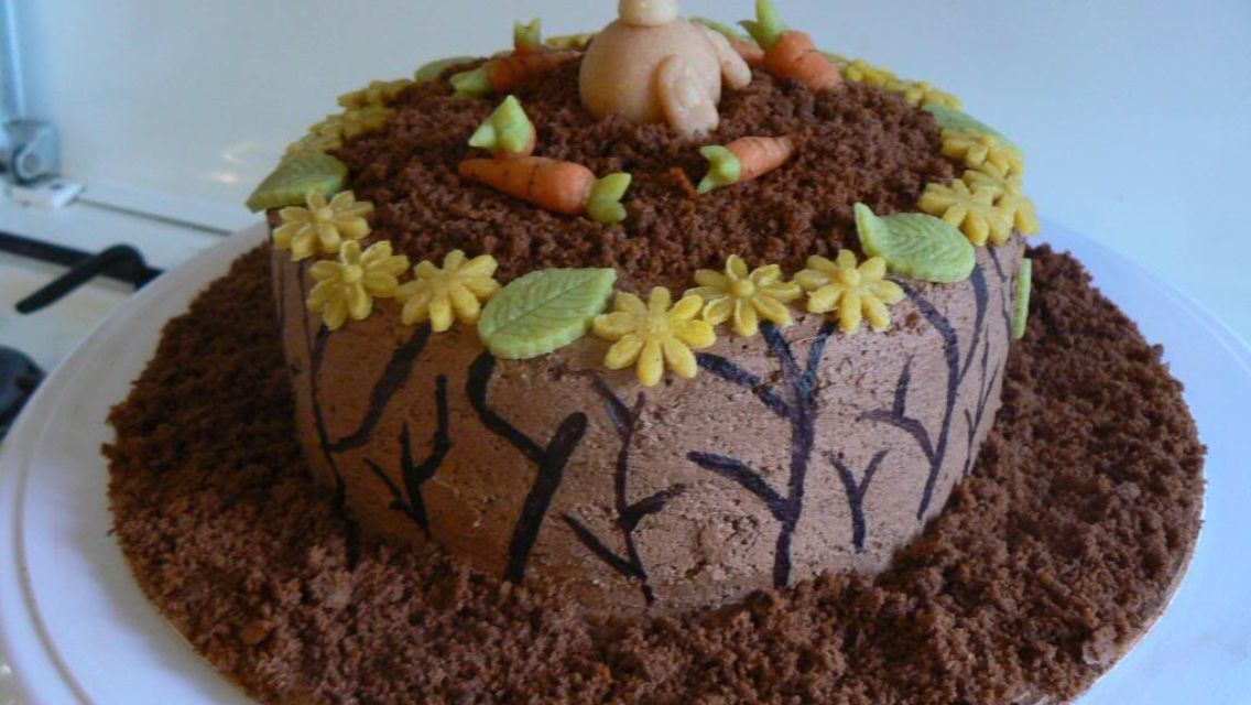 Paastaart easter cake bunny konijn Pasen taart