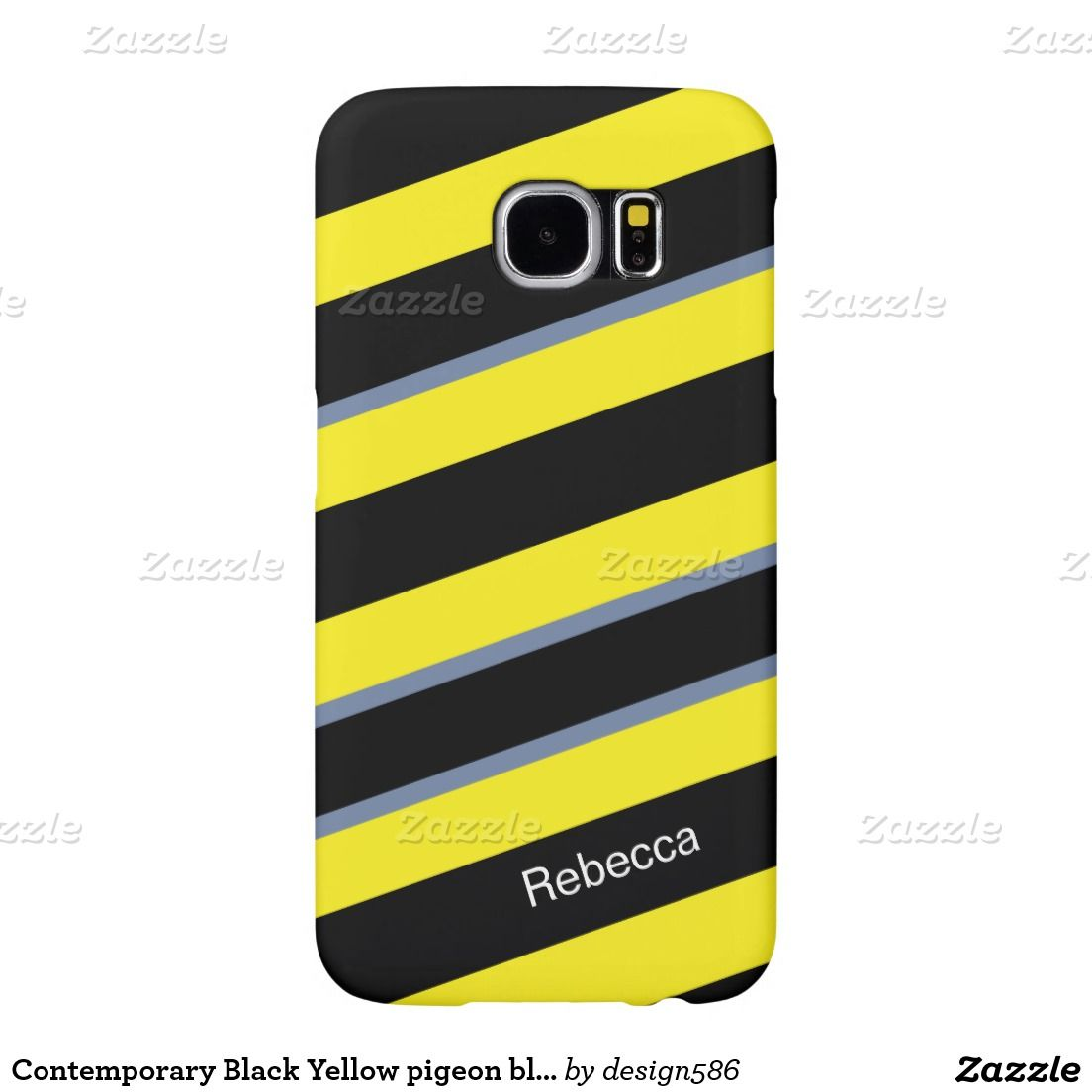 Contemporary black yellow pigeon blue stripes samsung galaxy s6 contemporary black yellow pigeon blue stripes samsung galaxy s6 cases biocorpaavc Image collections