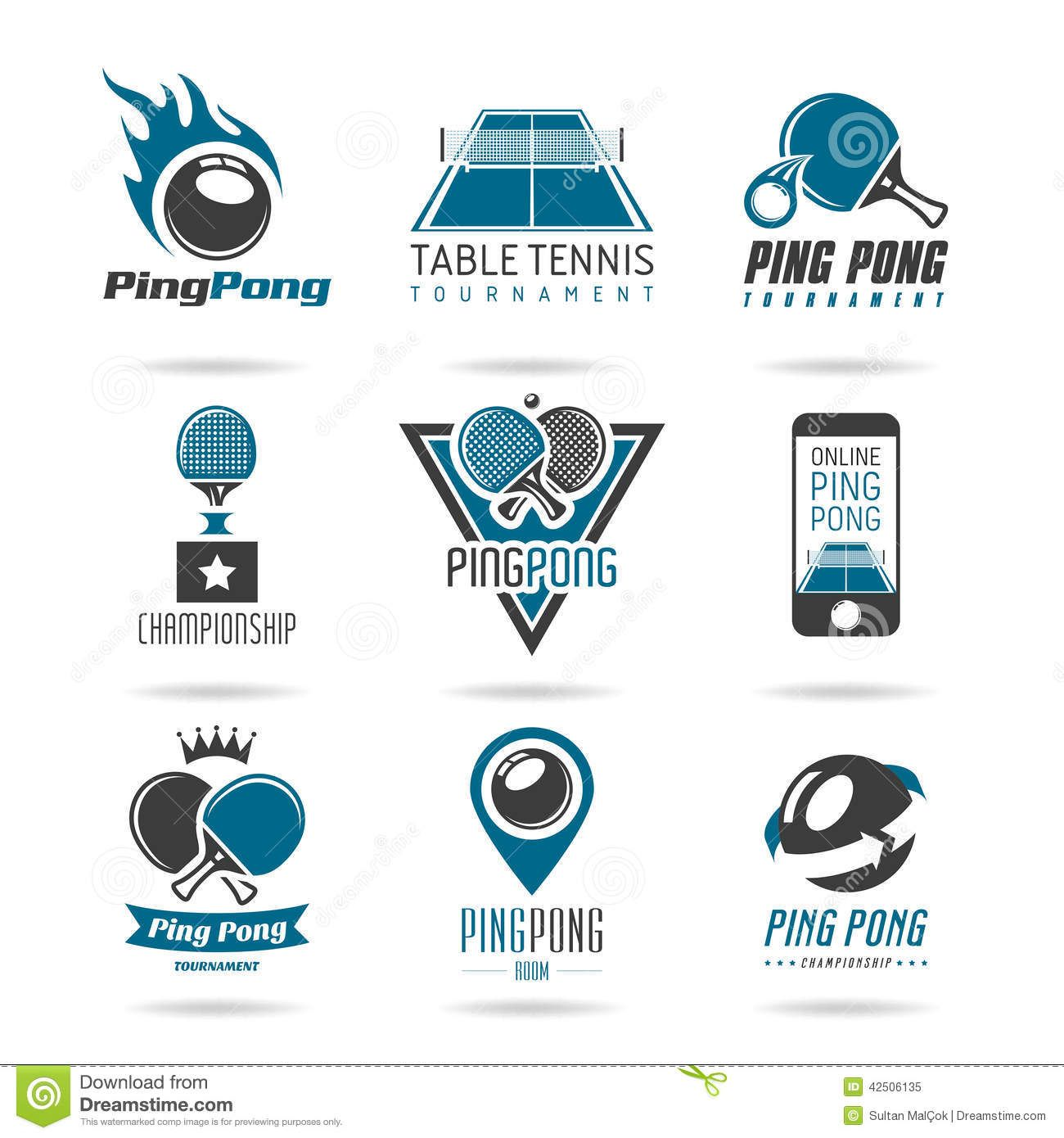 Ping Pong Icon Set Table Tennis Quality Icons Can Be Used Related Work 42506135 Jpg 1300 1390 Table Tennis Ping Pong Tennis