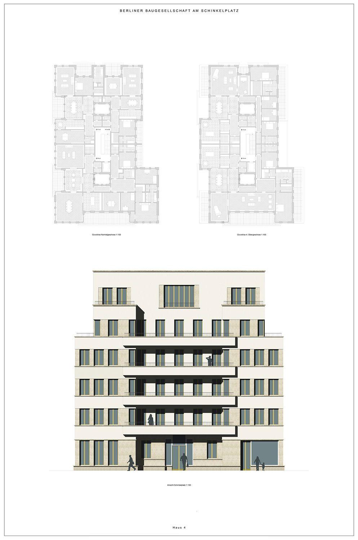 Areal Am Schinkelplatz Kahlfeldt Architekten Stadtplanung Architektur Grundriss