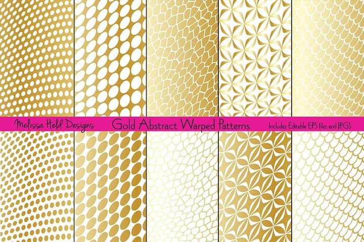 Gold abstract warped patterns by melissa held designs  collection of gradient effect and white geometric background also rh pinterest