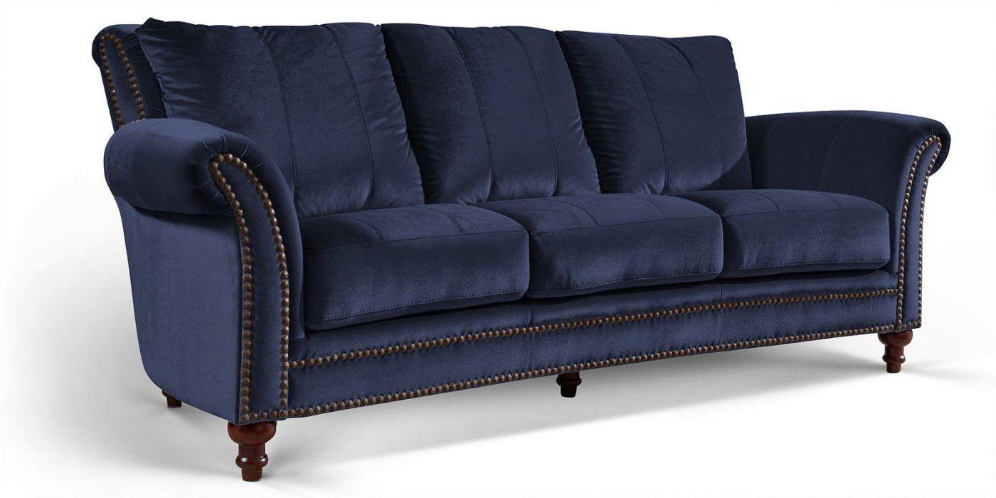 Barock Sofa 3 Sitzer Dunkelblau Samt Kings 2 Jpg Barock Sofa Sofa Bequemes Sofa