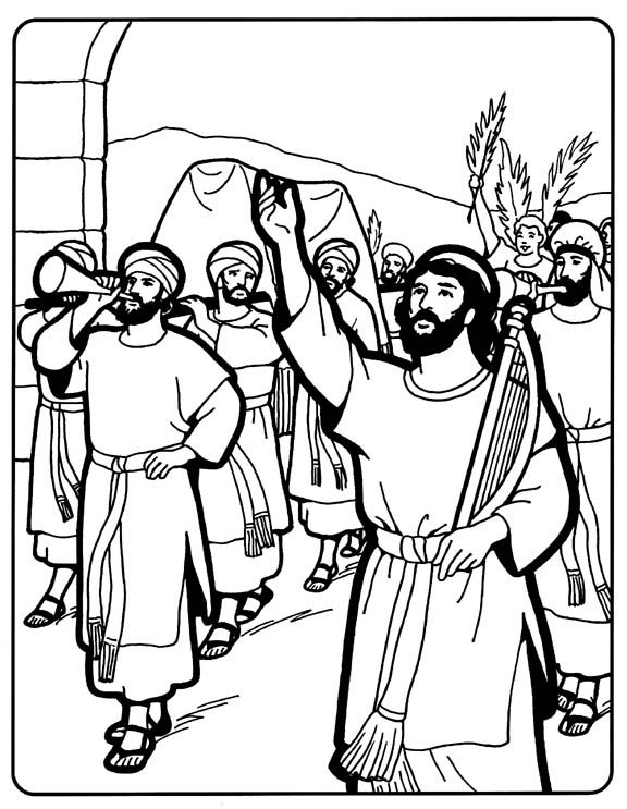 David Brings The Ark Sunday School Coloring Pages Bible