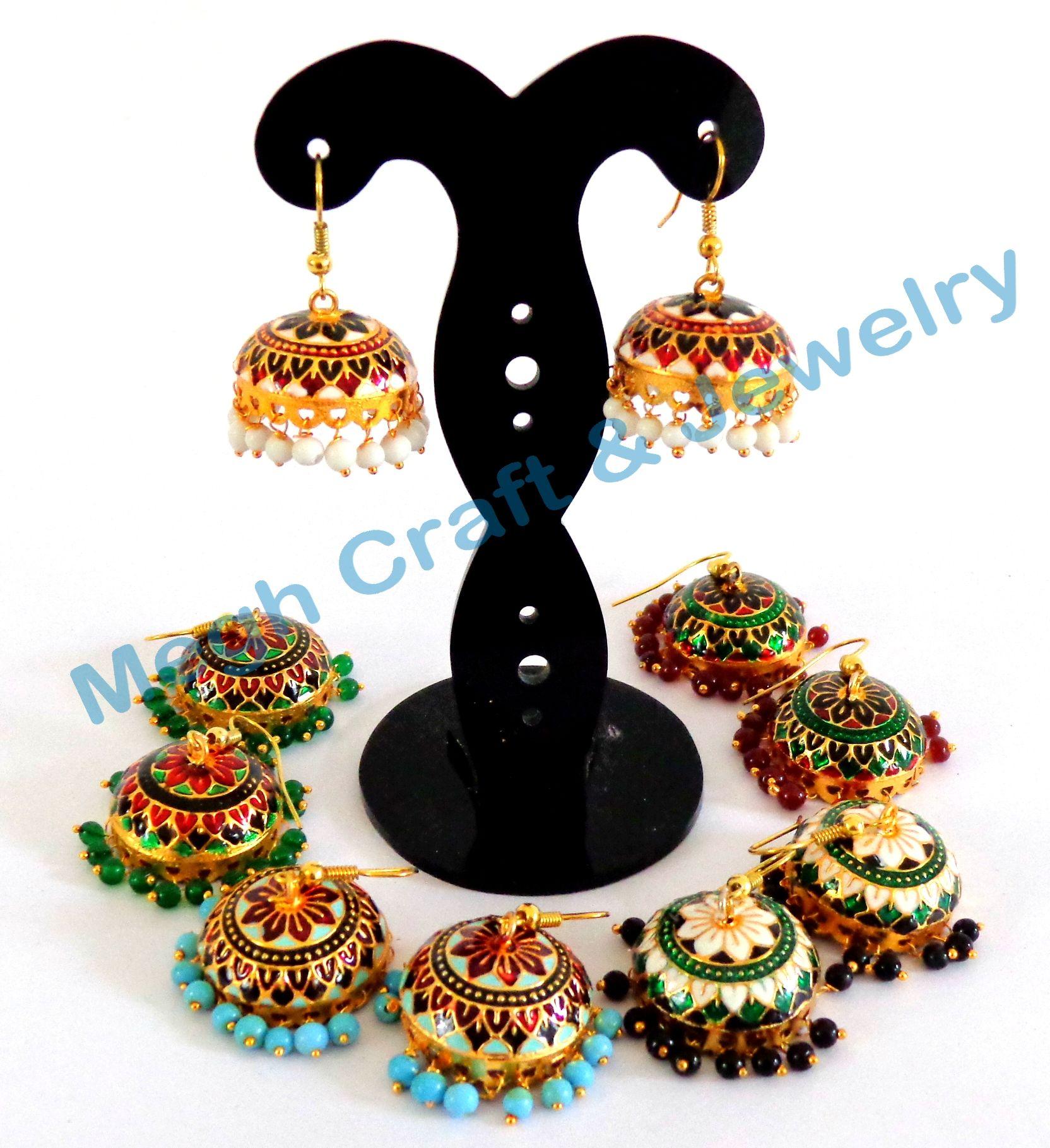 Party wear Meenakari Earring-Punjabi Girls Wear Jhumka Earring ...