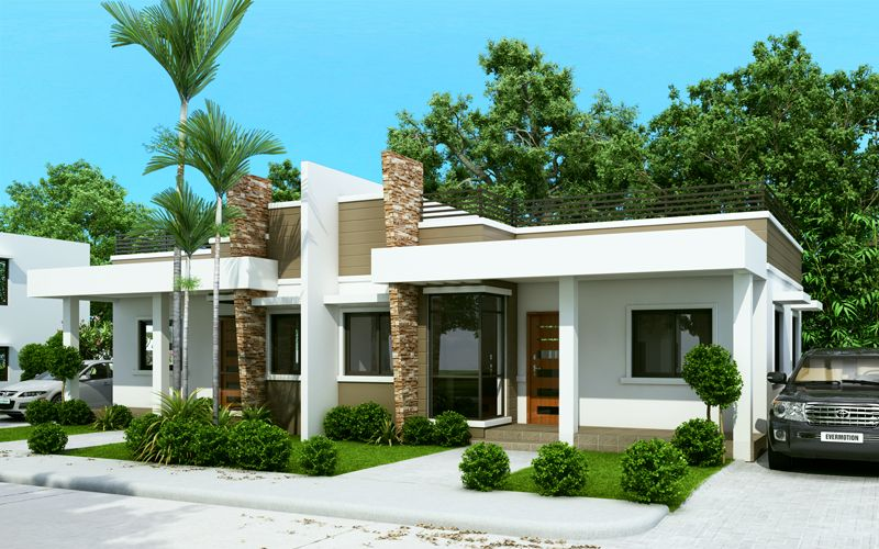 Conchita 2 bedroom duplex house plan with roof deck Home plans with rooftop deck