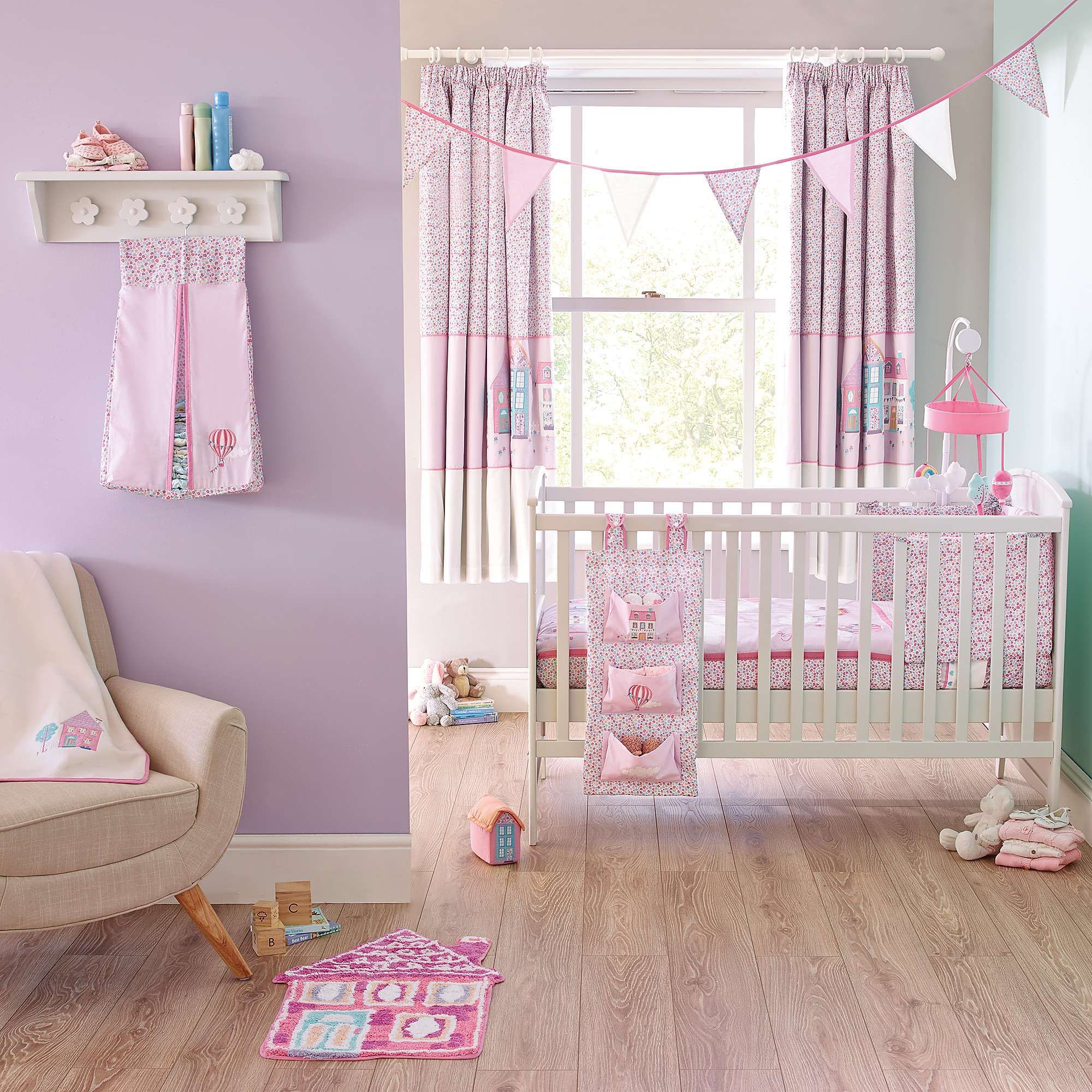 Up and Away Nursery Blackout Pencil Pleat Curtains | Dunelm ...