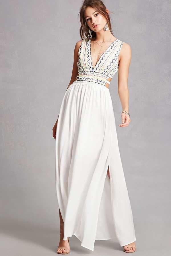 27623b13e1 FOREVER 21+ Soieblu Embroidered Maxi Dress | ☆ LA BOUTIQUE (Pin ...