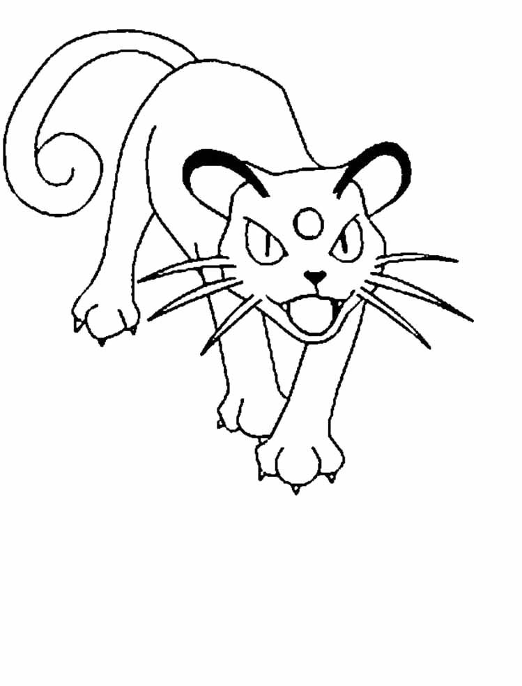 Pokemon Persian Coloring Pages With Images Pokemon Coloring