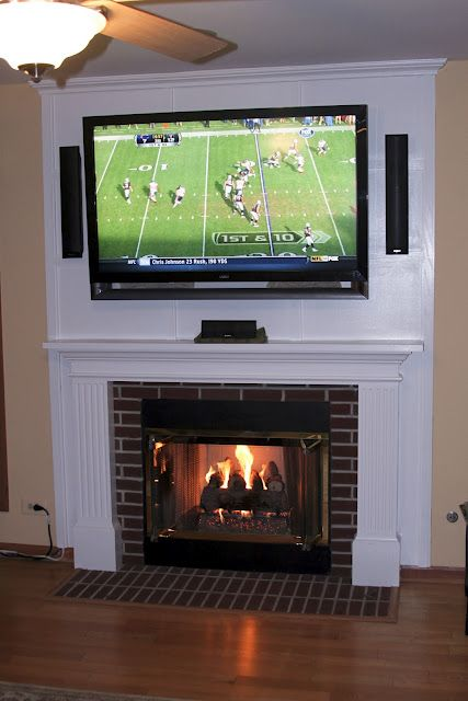 Mounting a TV above a fireplace and hiding the cords | Living Room ...
