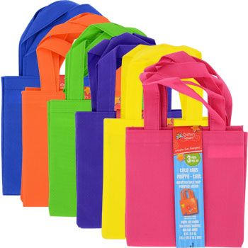 Bulk Mini Fabric Tote Bags, 3-ct. Packs at DollarTree.com ...