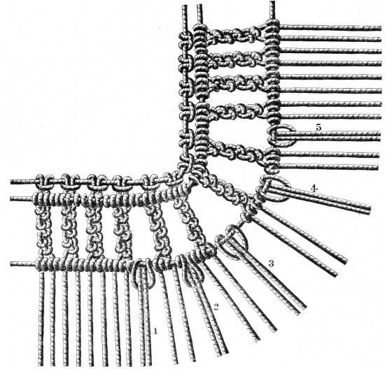 FIG. 602. ADDITION OF THE FIRST SUPPLEMENTARY THREADS